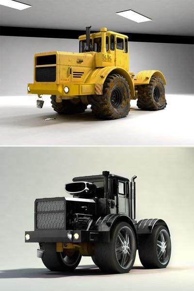 Трактор меньше кировца