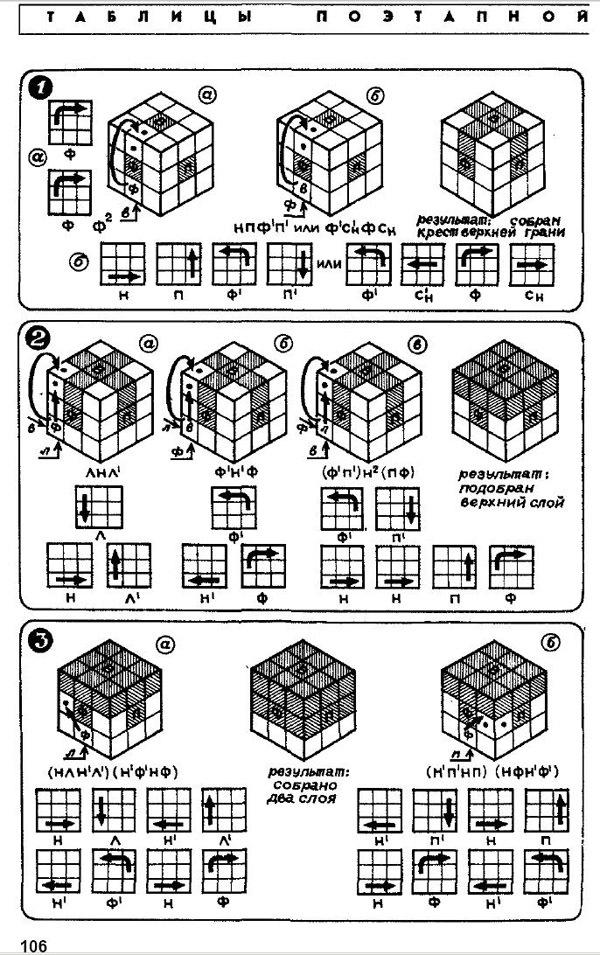 Кубик рубика схема наука и жизнь фото 289
